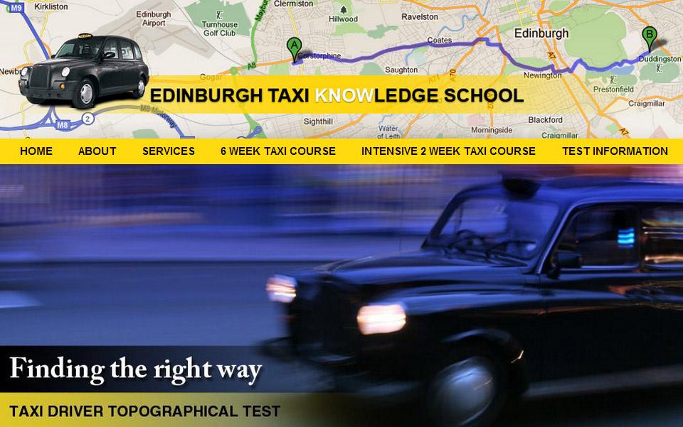 Edinburgh Taxi Knowledge