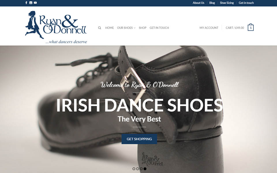 Ryan and ODonnell Irish Dance Shoes